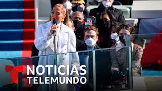 JLo habla en español en la juramentación de Joe Biden | Noticias Telemundo
