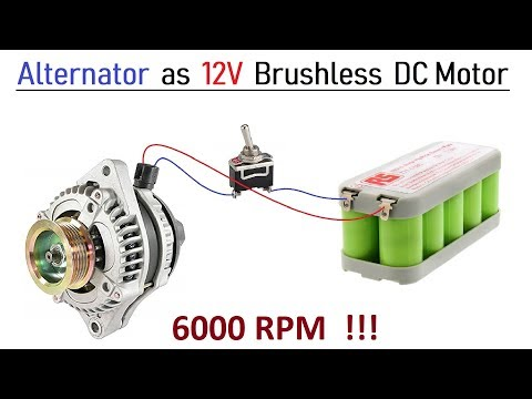 12v 100 Amps Car Alternator converted to Brushless DC Motor - High Speed with BLDC Controller