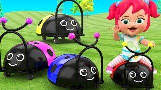 Baby-Preschool Learning Videos | Little Baby Girl Fun Play Ladybug Toy Set Kids Educational Toys