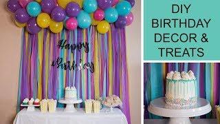 DIY BIRTHDAY PARTY DECOR, TREATS & HOMEMADE SPRINKLES