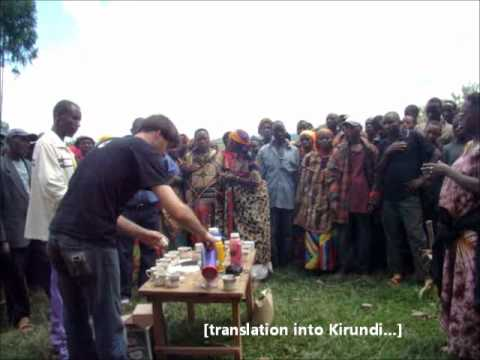 Speaking at Coffee Tasting with Farmers in Burundi