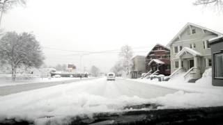 Post-snowpocalypse time-lapse drive to downtown Portland