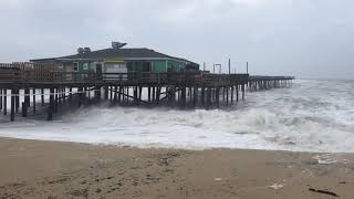 9-13-18 Hurricane Florence hitting the Outer Banks Fishing Pier