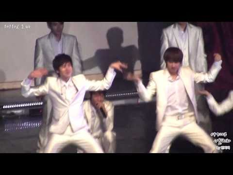 101106 Super Junior 5th Anniversary Party - Dancing Kyuhyun vs Eunhyuk (Sorry sorry dance break)