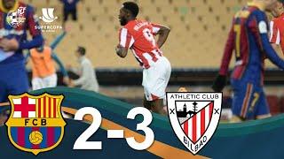 RESUMEN | FC Barcelona 2 - 3 Athletic Club | Final de la Supercopa de España 2021