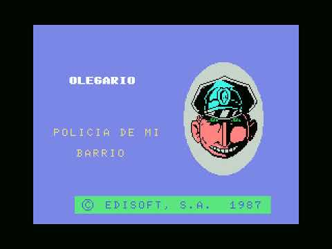 Olegario, Policia de mi Barrio (Edisoft, 1987)