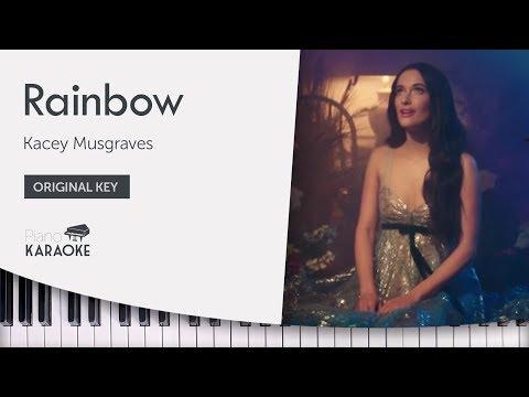 Kacey Musgraves - Rainbow Karaoke (Piano Instrumental) Original Key
