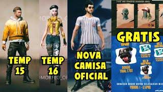 NOVAS CAMISAS DE TEMPORADA E NOVOS EVENTOS FREE FIRE