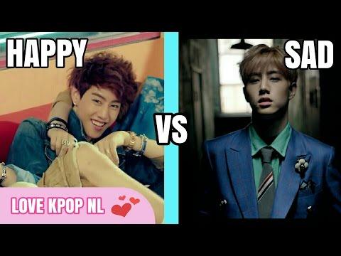 K-POP Boy Groups - Happy VS Sad K-Pop Songs