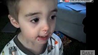 Little boy covered in sprinkles denies eating them