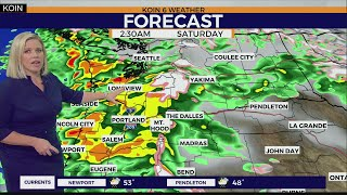 WEATHER FORECAST: Weekend t-storms, gusty winds and winter storm warnings