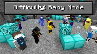 """I Put 100 Kids In Minecraft """"Baby Mode..."""""""