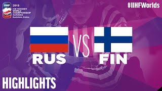 Russia vs. Finland - Semi-Final - Game Highlights - #IIHFWorlds 2019