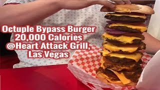World Record Holder.. Octuple Bypass Burger, 20 000 Calories