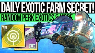 Destiny 2 | DAILY EXOTIC FARM & SECRET MILESTONE! Easy Random Perk Exotics, DLC Farm & Challenges