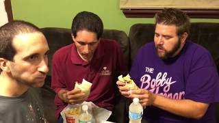 FAT MAN SLAPS CRINGEY TWIN WITH BURGER KING WHOPPERITO! TASTE REACTIONS AND REVIEW!