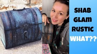 Rustic Glam Painted Box | Thrift Shop Flip