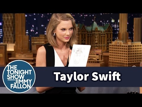 Taylor Swift and Jimmy Draw Each Other Without Looking