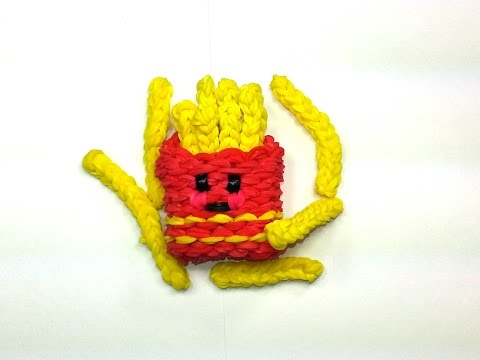 3-D Happy Fries Tutorial (Rainbow Loom)