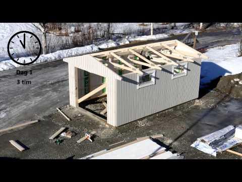 Hela garaget på halva byggtiden!