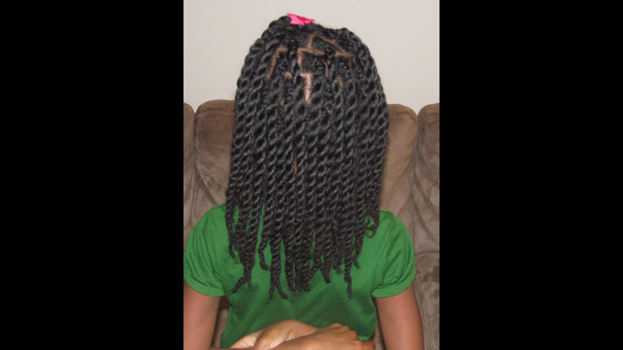 Hair Twists Rope Twists On Natural Hair Without Hair