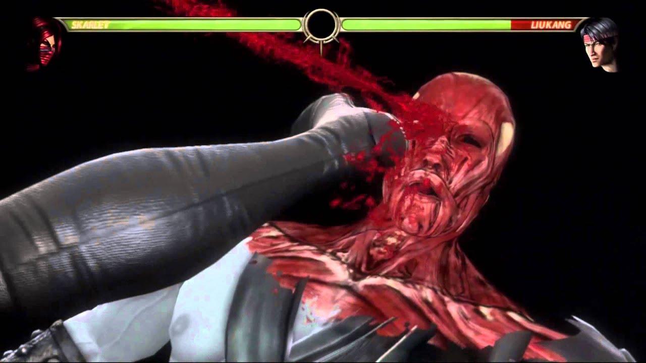 Mortal Kombat 9 Skarlet Blood Bank X-Ray - YouTube