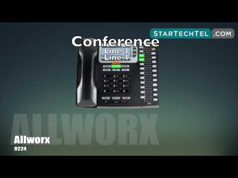 How To Make A Conference Call On The Allworx 9224 Phone