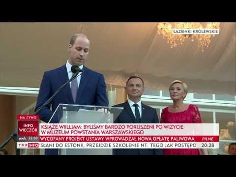 Przemówienie księcia Williama