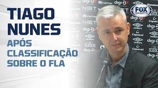 FURACÃO CLASSIFICADO! Tiago Nunes fala após classificação sobre o Flamengo