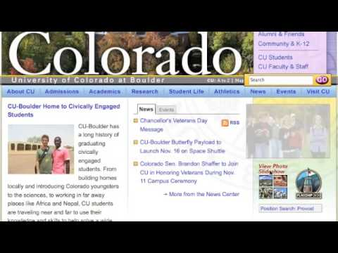 Colorado University Screencast