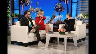 Charlize Theron Shows Seth Rogen & Ellen Her Make Out Tips