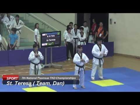 St Teresa Taekwondo (Team, Dan, 7th National Poomsae)