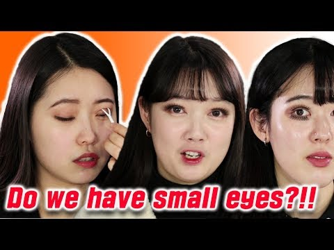 Korean Girls Try to Make Their Eyes Bigger [Korean Bros]