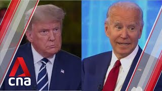 US presidential election: Trump and Biden show glaring contrast in style at competing town halls