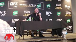 Dana White during UFC 234 the post fight press conference