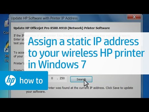 assign static ip deal with to hp wi-fi printer