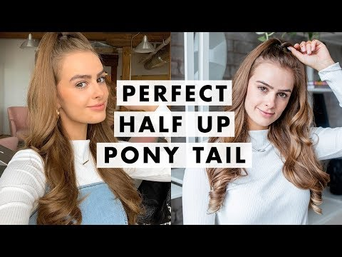 Perfect Half Up Half Down Pony Tutorial