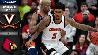 Virginia vs. Louisville Cardinals Condensed Game | 2019-20 ACC Men's Basketball