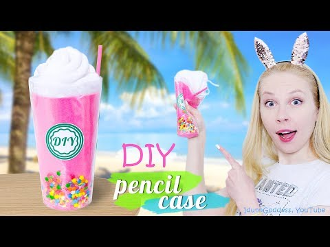 How To Make A Milkshake Pencil Case - DIY Pencil Case Shaped Like A Milkshake