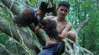 Cooking Chicken Soup With Banana Flower Easy Recipe For Lunch In The Forest