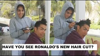 Cristiano Ronaldo gets a new haircut from girlfriend Georg..