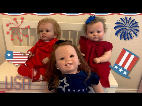 Happy 4th of July from the Reborn Dolls and Ayla!