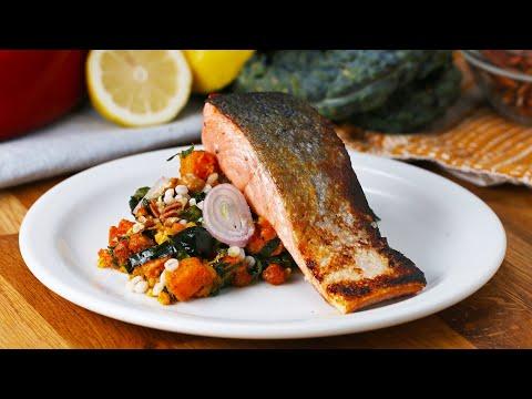 Seared Salmon with Smoky Squash Salad