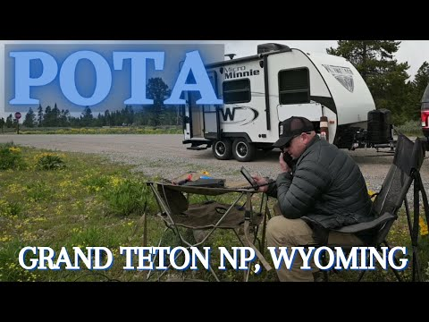 Parks on the Air in Grand Teton NP, Wyoming. FT-891 and Chameleon MPAS. POTA. 4K