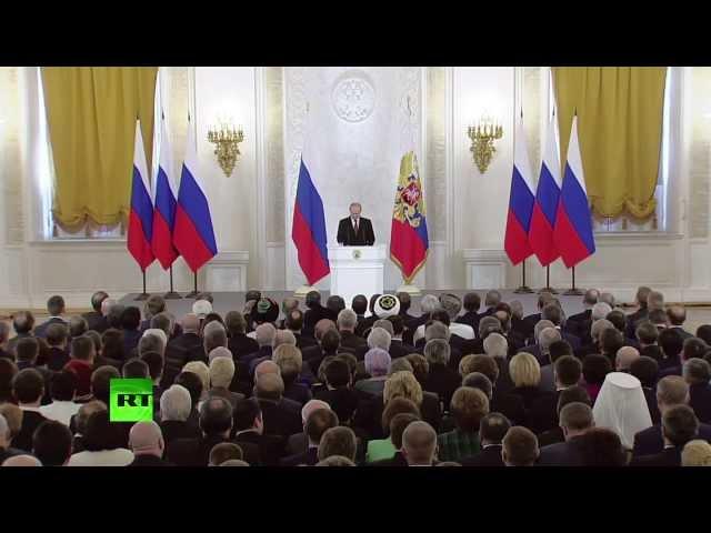 Репортаж RT: Крым принят в состав РФ с даты подписания договора
