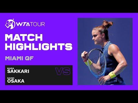 Maria Sakkari vs. Naomi Osaka | 2021 Miami Open Quarterfinals | WTA Match Highlights