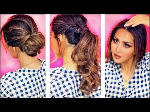 ★ ❌ 2-MIN EVERYDAY HAIRSTYLES FOR WORK❌ Holiday UPDOS for Long ❌  Medium HAIR