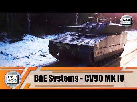 BAE Systems CV90 MkIV enhanced and modernized version of CV90 tracked armored IFV