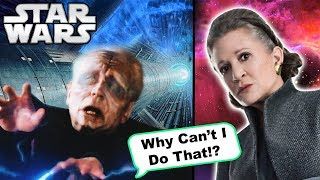 Why Palpatine CAN'T Fly Like Leia In The Last Jedi to SAVE Himself - Star Wars Explained