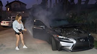 I SET MY EX-GIRLFRIEND'S CAR ON FIRE!